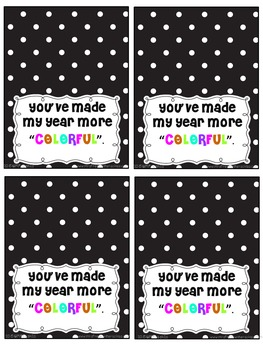 You've Made My Year More Colorful Gift Tag
