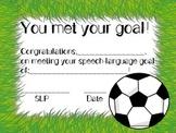 You've Met Your Speech Goal! Certificate