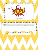 You've been Zapped! - Type of Sentence Game Edition