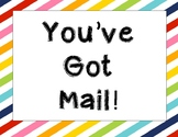 You've got mail sign (multicolor)