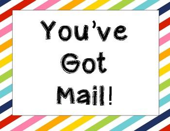 You've got mail sign (multicolor)
