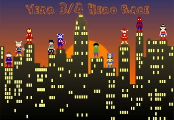 Year 3&4  Hero Race - based on the spelling lists for the new NC