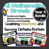 Yr 5 Maths Learning INTENTIONS & Success Criteria Posters