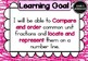 Yr 5 Maths – Number & Algebra Learning Goals and Success Criteria Posters