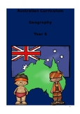 Yr 6 HASS Geography Australian Curriculum