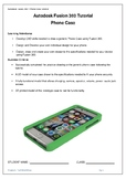 Yr 7 & 8 Technology - Model a Mobile Phone case using Auto