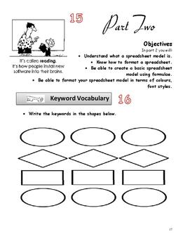 Yr 7 Intro to Spreadsheets Classwork Book Grade 7,8,9 Year 7,8,9
