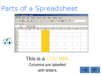 FREE-Yr 7 Intro to Spreadsheets Tutorial Year 7,8,9 Grade 7,8,9