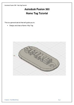 Yr 7 Technology - Design, Model and 3D print a key tag using