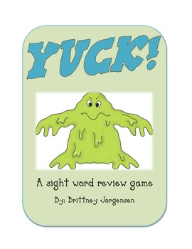 Yuck! Sight Word Review