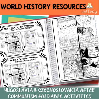 Yugoslavia and Czechoslovakia After Communism Foldable Activities
