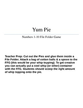 Yum Pie FFG - Numbers 1-10 *Please rate your download! Thanks!