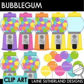 Yum Yum Bubblegum Clip Art Set