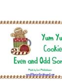 Yum Yum Cookies Even and Odd Sort Center