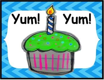 Yum Yum Cupcakes Classroom Theme Package
