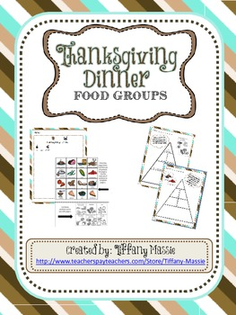 Yum, Yum, Dinner Time - Thanksgiving Food Group Activity