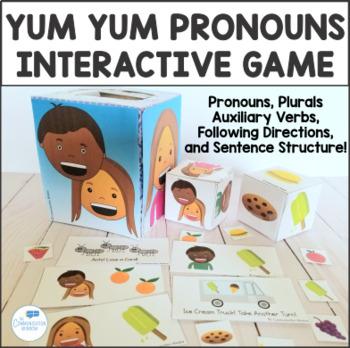 Yum Yum Pronouns Interactive Game - He, She, They - Presch