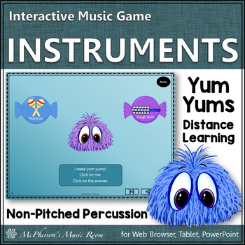 Non-Pitched Percussion Instruments: Interactive Music Game {Yum Yums}