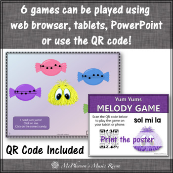 Yum Yums!  Interactive Melody Games + Assessments {Bundle}