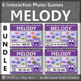 Music Games: Interactive Melody Games + Assessments {Yum Yums Bundle}