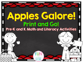 Apples Galore! Print and Go! Pre-K and K Literacy and Math