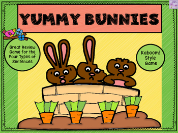 Yummy Bunny Bites Game (Four Types of Sentences)