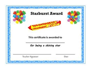 Yummy Candy Bar Awards