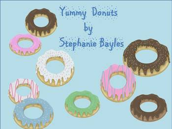 Yummy, Colorful, Donut Clip Art for personal or commercial use