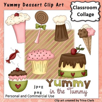 Yummy Dessert Clip Art - color - personal & commercial use