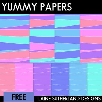 Yummy Digital Paper Freebie