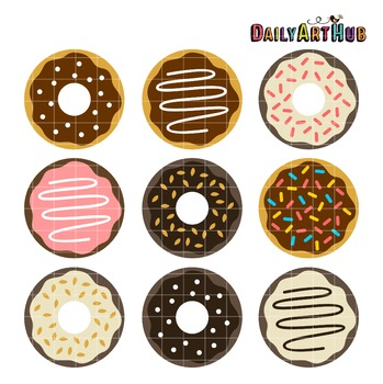 Yummy Donuts Clip Art - Great for Art Class Projects!
