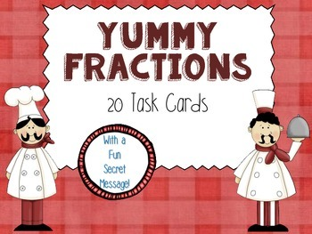 Yummy Fractions Task Cards