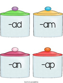 Yummy Gummy Word Families Activities (short a)