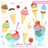 Yummy Ice Cream Clipart - Vectors