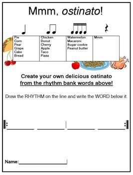 Yummy Ostinato! Food Rhythms