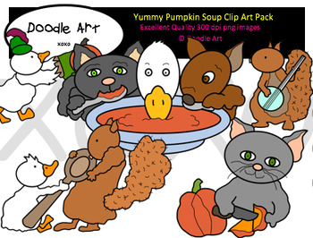 Yummy Pumpkin Soup Clipart Pack