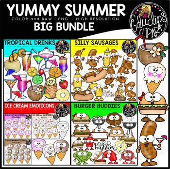 Yummy Summer Clip Art Big Bundle {Educlips Clipart}