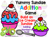 Yummy Sundae - Addition and Subtraction - Math Interactive