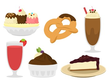 Yummy Sweet Snacks Cute Clip Art