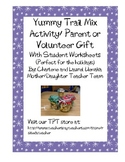 Yummy Trail Mix Gift and Activities and Worksheets for Parent Holiday Gift