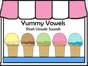 Yummy Vowels Flipchart - Short Vowel Sounds