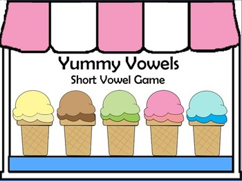 picture regarding Printable Short Vowel Games referred to as Yummy Vowels Printable Match - Shorter Vowel Seems