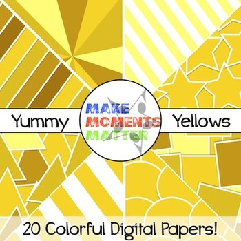 Yummy Yellow - Digital Paper Pack