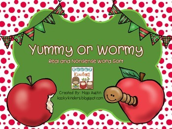 Yummy or Wormy Real and Nonsense Word Sort