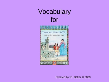 Yunmi and Halmoni's Trip Vocabulary Houghton Mifflin Series