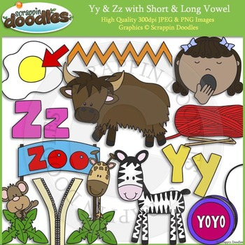 Y & Z Short and Long Vowel