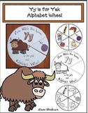 Yy is for Yak Alphabet Wheel