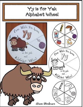 Yy is for Yak Alphabet Wheel
