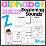 Z Beginning Sound Letter of The Week Activity Pack