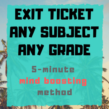 Z Chart Exit Ticket/Good For All Subjects